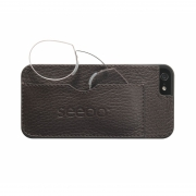 seeoo light Zwickerbrille + iPhone Cover - braun
